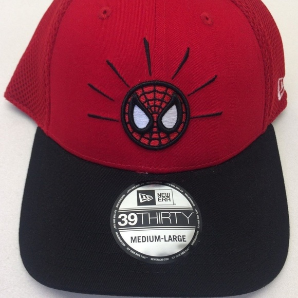 b4607bb9a Men s New Era Spiderman Marvel 39Thirty Sz M L Cap. NWT